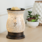 Preview: Candle Warmers elektrische Duftlampe - REFLECTION silber Mosaik Glas