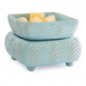 Preview: Candle Warmers CHEVRON 2-in1 Classic Duftlampe elektrisch hellbau aus Keramik