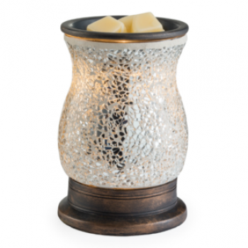 Candle Warmers elektrische Duftlampe - REFLECTION silber Mosaik Glas
