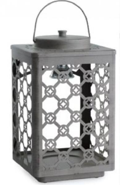 Candle Warmers GARDEN Laterne Metall vintage taupe
