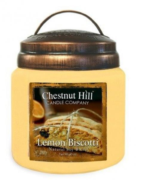 CHESTNUT HILL Candles 2 Docht Sojawachs Duftkerze LEMON BISCOTTI 450g